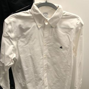 White long sleeve brooks brothers button down